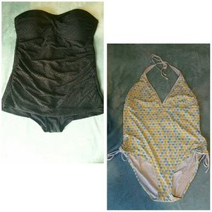 Two plus size swimsuits merona & American eagle